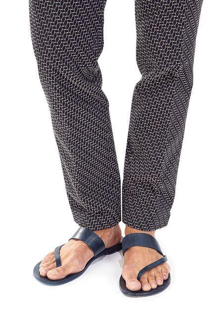 sandalia azul marino formal