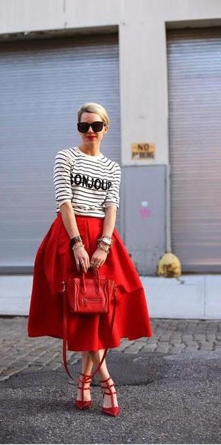 falda midi-streetstyle