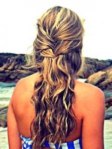 peinado semi trenza suelto