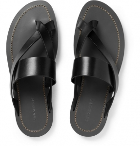 sandalia hombre negra formal