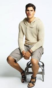 sandalia negra hombre semi formal