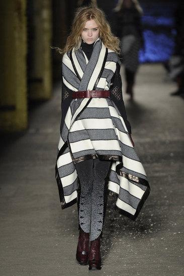 blanket coat con cinturon