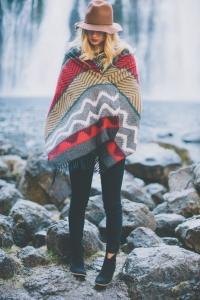 blanket coat con sombrero